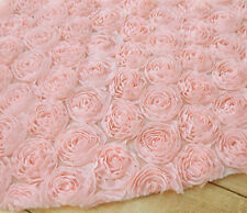 Lace Fabric Pink 3D Large Rose Lace Wedding Fabric  49.2'' width 1 yard