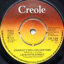 LAFAYETTE STREET 45 Chariot (I Will Follow Him) CREOLE Disco ENGLAND PRESS #H45