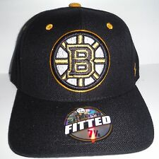 2bbcb6e0f63 Boston Bruins Fitted Size 7 1 8 Hat NWT Authentic Cap Black Zephyr