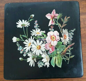 Vintage Hand Painted Lacquer Box