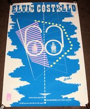 "ELVIS COSTELLO BARNEY BUBBLES SUPERB UK PROMO POSTER ""NEW AMSTERDAM"" SINGLE 1980"