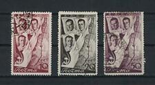 Russia, 1938, S.c.# 640 - 642, 3 used stamps.