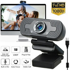 Real 1080P Full HD USB Webcam for PC Desktop & Laptop Web Camera with Microphone