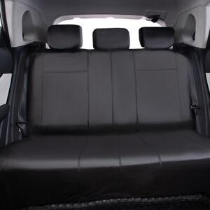 Universal Car Seat Covers Leather Waterproof Rear Bench Split 40/60 50/50 Black