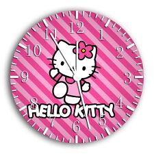 "Hello Kitty wall Clock 10"" will be nice Gift and Room wall Decor W23"