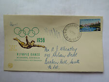 WCS FIRST DAY COVER MELBOURNE 1956 OLYMPIC GAMES 2 Shillings STAMP 31 Oct 1955