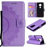 Mandala Wallet Leather Flip Case Cover For Motorola MOTO G6 Play G7 E5 Plus