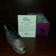 Just The Right Shoe by Raine Nib Golden Leaf 25098 Coa