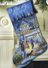 Cross Stitch Kit Gold Collection Christmas Eve Fun XMAS Stocking #8805 OOP