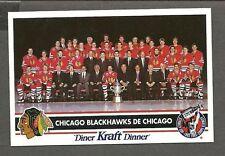 1992-93 Kraft Dinner(Canada) Chicago Blackhawks Factory Redemption PostCard