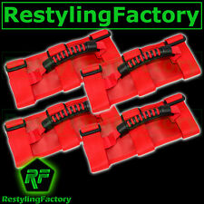 77-16 Jeep Wrangler JK TJ YJ CJ Deluxe Extreme RED Roll Bar Grab Handle 4pcs