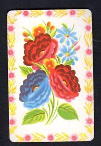 Vintage Swap Card - Pretty Flowers  (USA BLANK BACK)