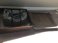 Gucci GG logos Canvas Leather Boston Speedy Bag Satchel Beige Brown