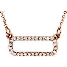 Diamante suave Rectángular 40.6cm Collar en 14k oro rosa ( 1/6 Ct. TW
