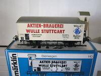 Märklin HO 4678 Bierwagen Wulle Stuttgart BtrNr 600033 Würth (RG/BS/027-9R4/3)