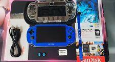PS Vita Playstation Vita OLED 128GB 3.65fw Henkaku Enso Blue [PSP,PS1,Retro]