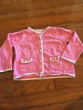 Janie and Jack girl size 18 to 24 months pink and white cardigan sweater