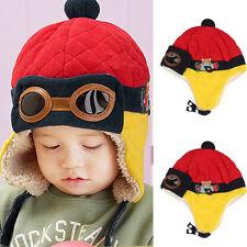 Child Kids Winter Beanie Hat Toddler Baby Boys Girls Warm Winter Aviator Hats A