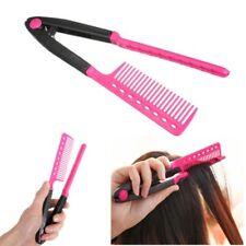 V Type Hair Straightener Comb DIY Popular Salon Hairdressing Brush Styling Tool