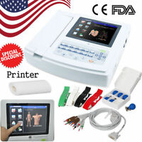 FDA Digital 12-lead 12-channel Electrocardiograph ECG/EKG Machine interpretation