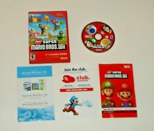 New Super Mario Bros ( Nintendo Wii, 2009 ) *** Complete *** CIB Tested ✅