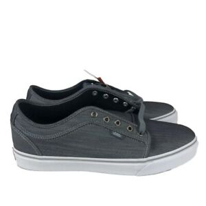 Vans Chukka Low Skate Men's Shoes Chambray Grey/White (9.5 US) VN000NKA63Q