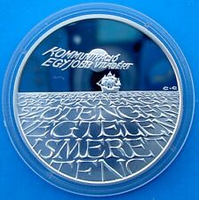 HUNGARY 500 F 1993 SILVER PROOF ARGENTO EXPO 96 VELIERO NAVE SHIP PESO 31,46g