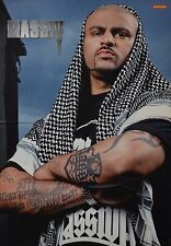 MASSIV - A3 Poster (ca. 42 x 28 cm) - Rapper Clippings Fan Sammlung NEU