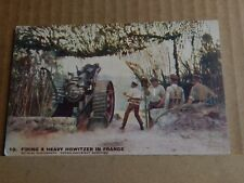 Postcard WW1 Firing A Heavy Howitzer In France unposted Daily Mail Series
