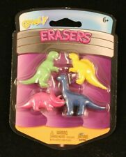 Googly - Eraser - 4 Pack - Dinosaurs - 4 Different Colors & Figures