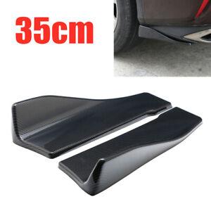 2PCS 35CM Car Rear Lip &Body Side Skirts Splitters Diffuser Winglet Wings Bumper