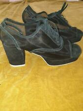 Jeffrey Campbell suede leather and velvet sheer mesh high heels 41 10