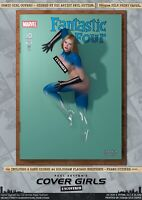 Invisible Woman Fantastic 4 Pin-Up Sexy Cover Girls A3 Signed Marvel Comic Print
