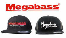 Megabass Logo Snapback Flat Brim Hats Fishing Hat Snapback Cap Big Bass Dreams