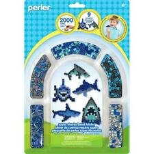 New Perler Fused Bead Activity Kit SHARKS includes 2000 Beads, 3 Pegboards
