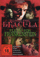 2Warhol's Blood for Dracula - Flesh for Frankenstein , uncut , DVD new & sealed