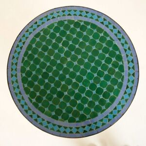 Moroccan Garden Table From Mosaic Stones Bistro Table D60cm Round Mdadi