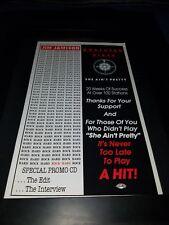Jim Jamison/Northern Pikes Rare Original Radio Promo Poster Ad Framed! #2