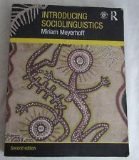 Introducing Sociolinguistics by Miriam Meyerhoff 2011 2nd Edition Revised