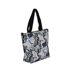 Girls Ladies Insulated Lunch Tote Bag Packed Lunch Dinner Tote Bag Butterflies