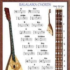 BALALAIKA CHORDS POSTER 13X19 & NOTE CHART