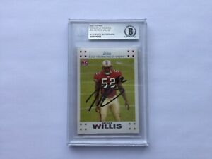 Patrick Willis Signed Autographed Card RC Slabbed Encapsulated Beckett BAS COA a