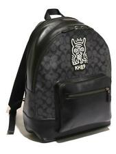 Coach x Keith Haring Collaboration Leather Backpack charcoal Black