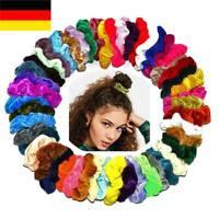 20St Haargummi Samt Haarband Velour Zopfband Zopfgummi XL Scrunchie Farben ♥ HOT