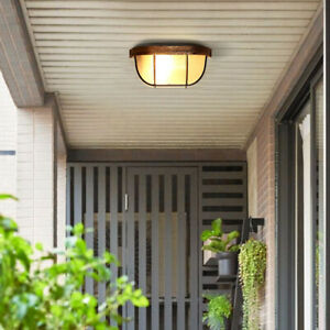 Bulkhead Light Lamp with Protective Wall Guard for Indoor Outdoor Outside Finish