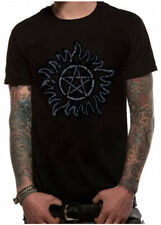 Official SUPERNATURAL TEXT SYMBOL Unisex T-Shirt Tee NEW sizes S-XXL