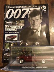 Eaglemoss James Bond Car Collection 007 # 54 Chevrolet Impala + Magazine New
