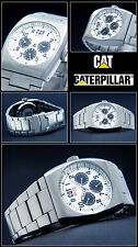 HIGH QUALITY MULTI FUNCTION COMPLETE CALENDAR CAT MEN'S WATCH 10 BAR NEW