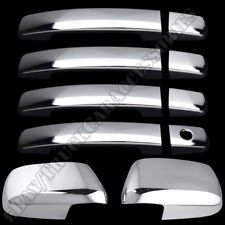 For NISSAN Frontier 2005-15 2016 17 Chrome Covers Set Full Mirrors+4 Doors w/o S