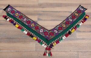 """7.09"""" x 50.39"""" Tassel Segusha Belly Dance Uzbek VINTAGE FAST Shipment UPS 12028"""